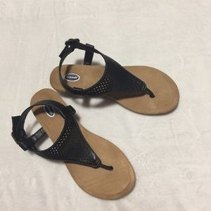 Dr. Scholl's tan and black sandals size 7
